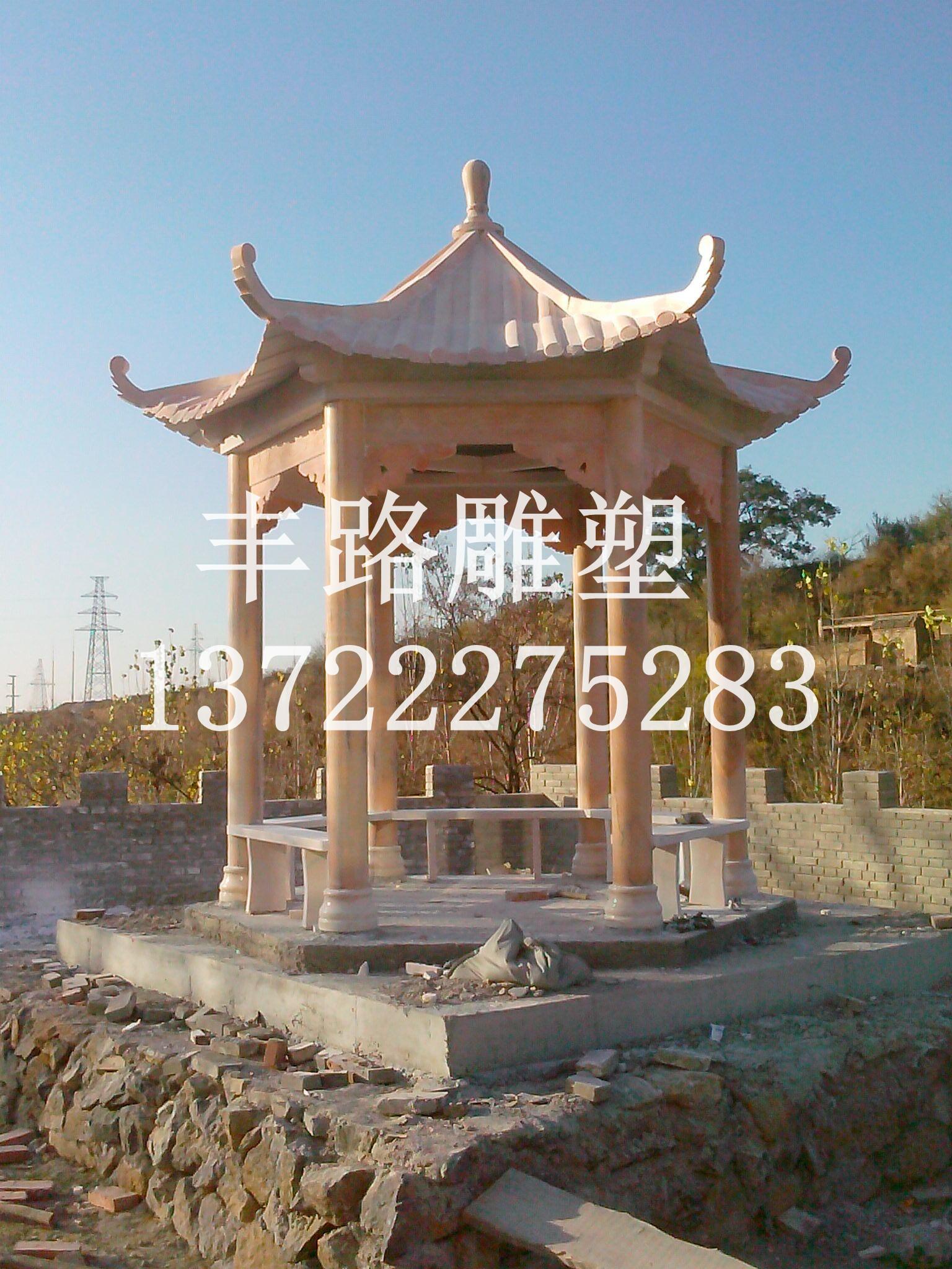 大理石欧式柱子亭子-石木雕塑品