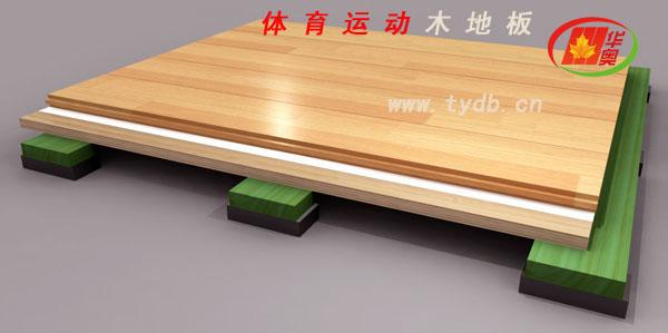 运动木地板结构图