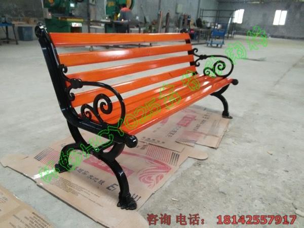 欧式靠背休闲椅 园林木条座椅厂家