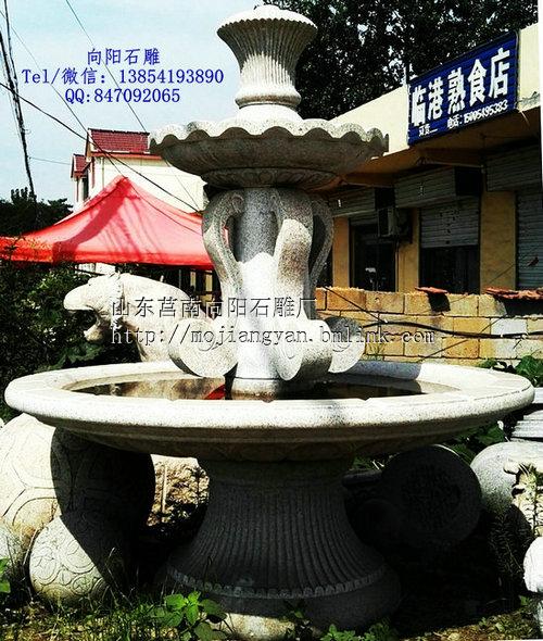 茌平直销大型黄锈石喷泉水钵喷泉雕塑