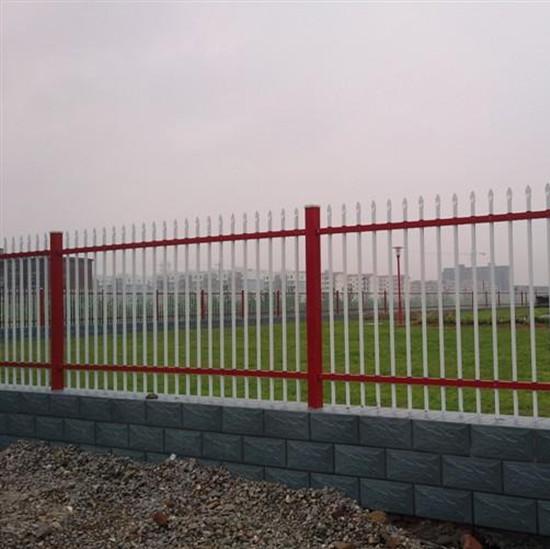 供应滨湖浸锌钢喷塑围墙护栏厂家