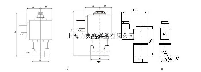 【ld61a/b(23)二位三通微型电磁阀】图片