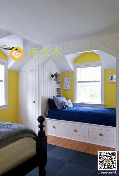 幼儿园儿童房集成墙面护墙板绿众木厂家直供