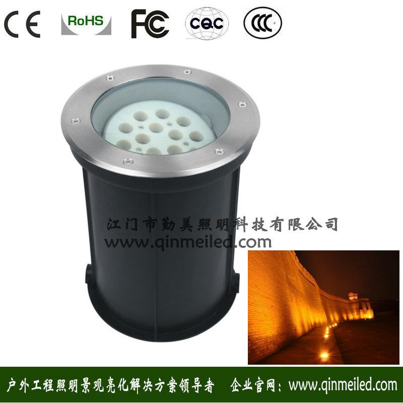 供应18W圆形可手动调节发光角度LED埋地灯