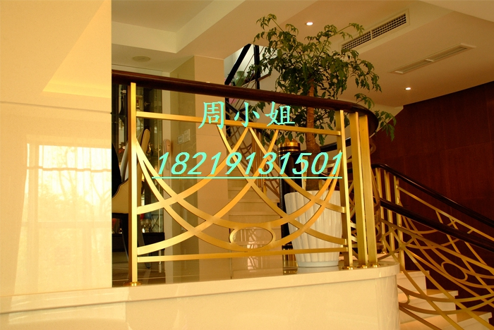 【欧式铝板雕刻楼梯扶手艺术别墅铝艺护栏】广东佛山