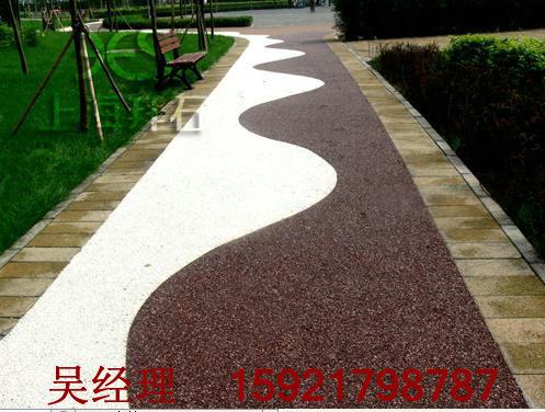 供应兰州人行道透水混凝土/露骨料透水混凝土增强剂