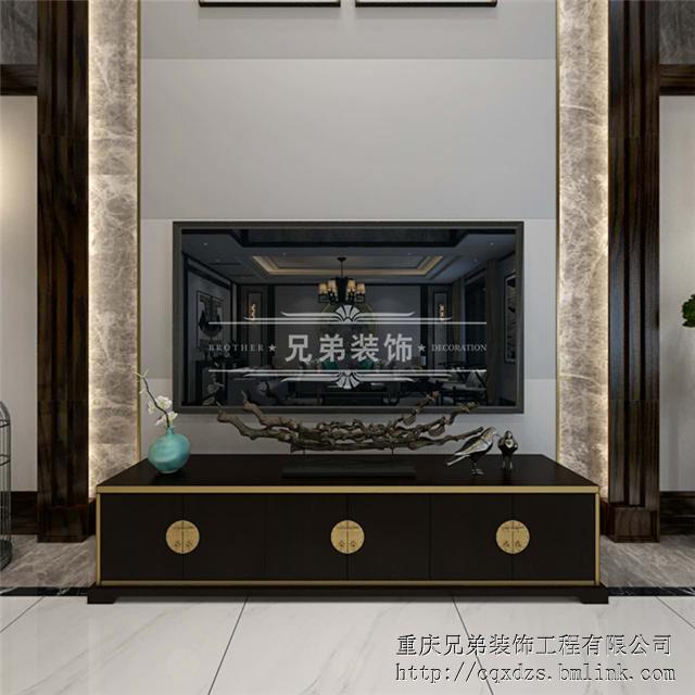 重庆渝北独栋别墅设计公司,兄弟装饰江与城原山别墅