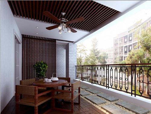 优点都在这了-阳台生态木吊顶   7,保温,隔热,阻燃:生态木同木材一样