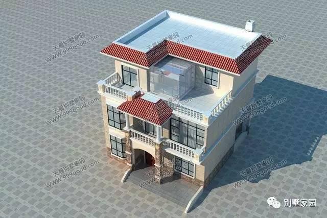 农村三层小别墅带阳光房图片有吗