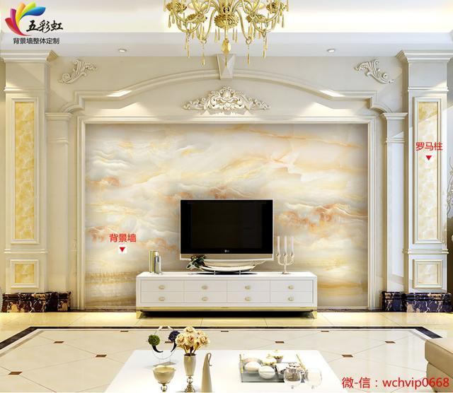 9款石材罗马柱搭配微晶石电视背景墙,沉淀细腻的生活