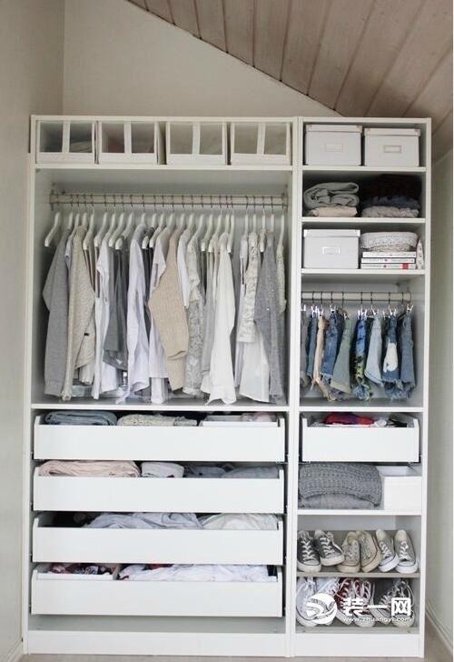 开放式衣柜设计图 空间合理布局能大大增加容量哦-衣柜设计图图片