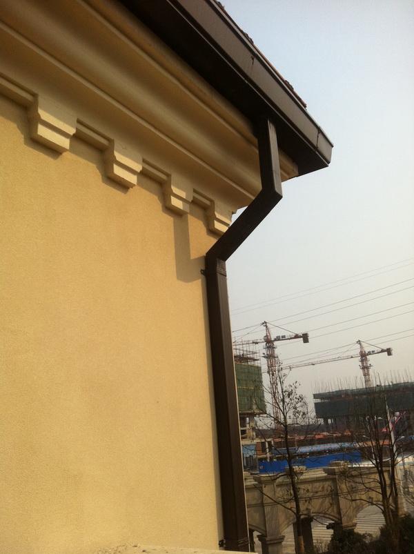 供应别墅屋面彩铝接水檐槽