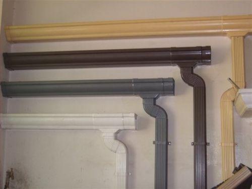供应别墅屋面PVC接水槽落水系统