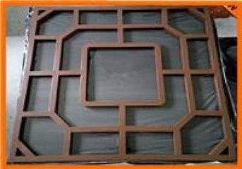 木纹铝窗花-铝窗花厂家