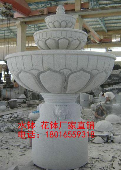 欧式石雕水钵 水钵喷泉 水钵雕塑厂家