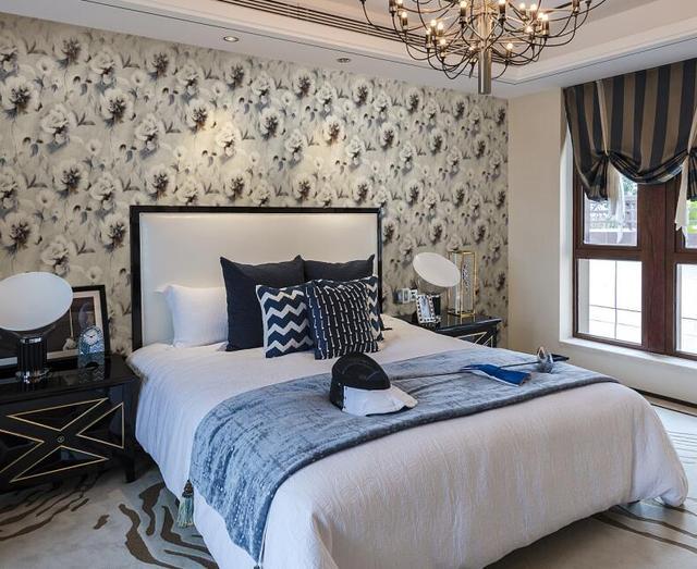 房间欧式墙布效果图