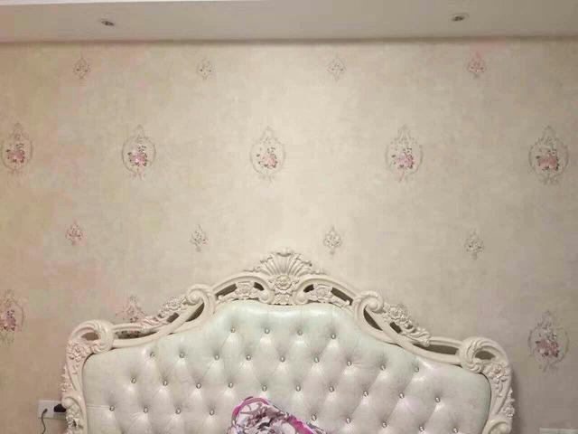 卧室墙布颜色效果图