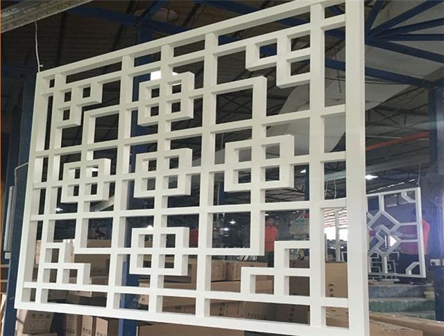 中式木纹铝窗格-仿古木纹铝挂落