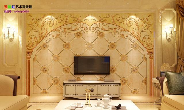 欧式微晶石电视瓷砖背景墙,客厅简约雕刻影视墙砖-微晶石