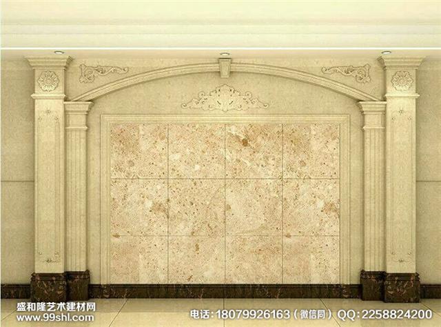 欧式仿大理石罗马柱背景墙玄关背景厂家定制