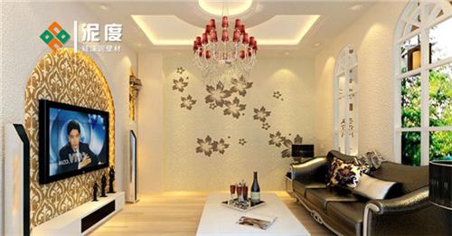 新中式墙面硅藻泥电视背景墙 泥度硅藻泥