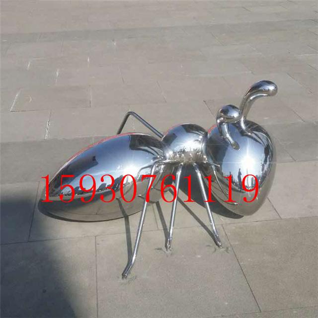 不锈钢动物蚂蚁园林雕塑