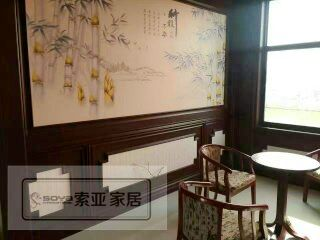 新型墙顶装饰材料 护墙板 竹木纤维集成墙面