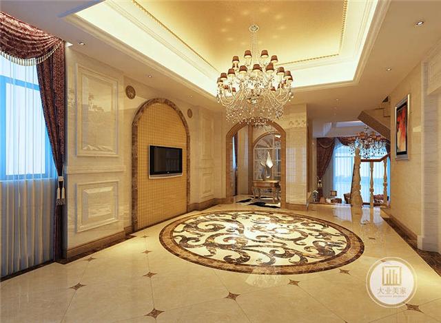 装修丨300平方简欧效果图  案例说明:简约欧式风格沿袭古典欧式风格的