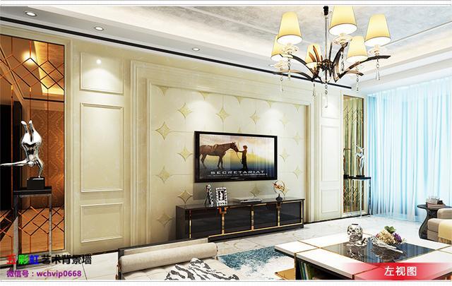 欧式客厅背景墙石材护墙板《格兰维斯》,美女私房菜!