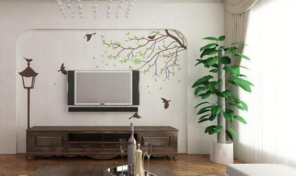 现代简约客厅电视背景墙装修效果图 2017年时尚设计风格-3d背景墙