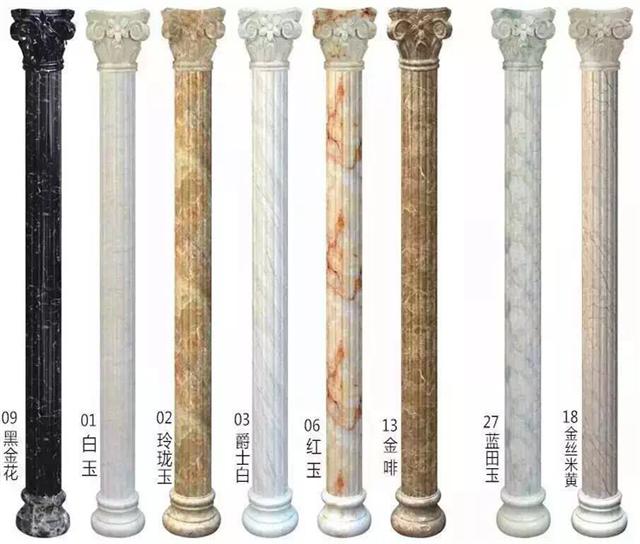 石塑仿大理石圆形罗马柱pvc圆柱子装饰线条