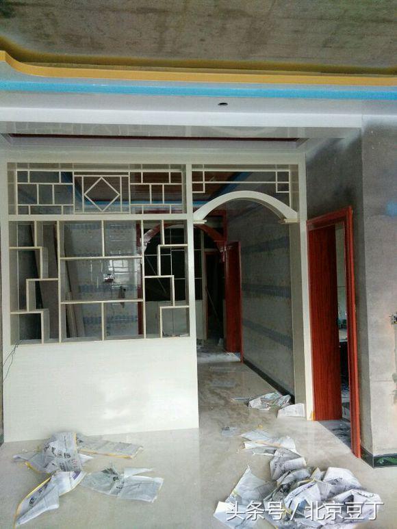 新房装修木工制作隔断柜, 除了好看实用空间瞬间增大5