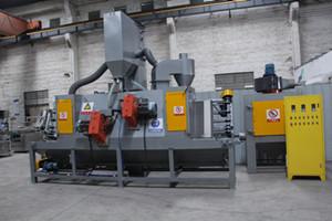金属家具除锈平面输送喷砂机 红海自动喷砂机