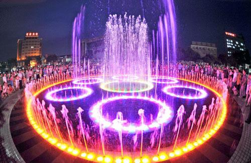青海喷泉公司西宁喷泉公司 水景喷泉设计安图片