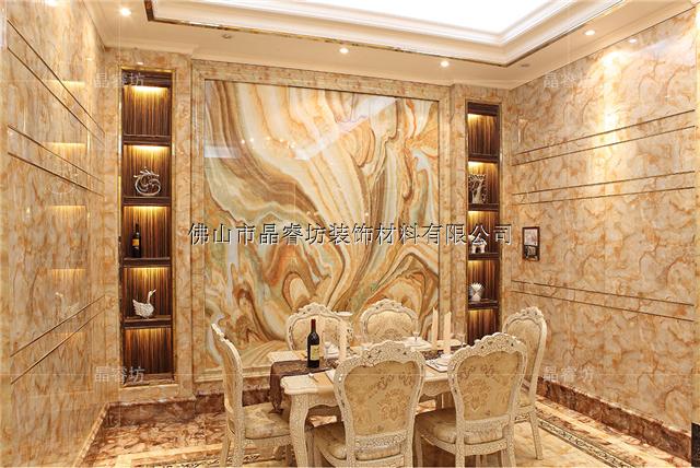 通透晶莹,可作为立体欧式形象墙装饰,客厅前台浮雕电视形象墙背景板