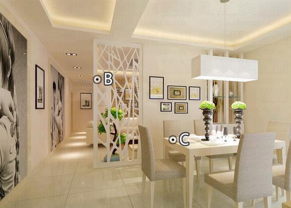 首頁 品牌 家裝材料 頂墻飾材 隔斷 >餐廳造型設計效果圖: 客廳與餐廳