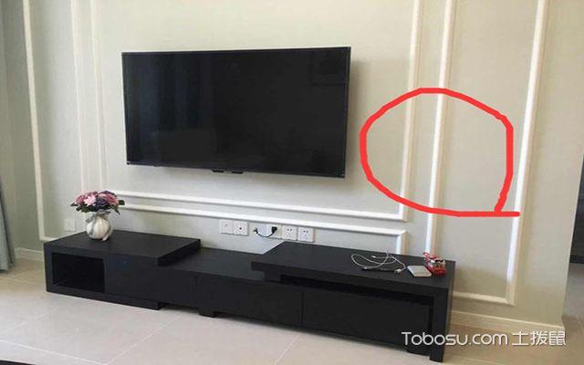 石膏线电视墙效果图, 简约的欧式装修-电视墙壁纸搭配