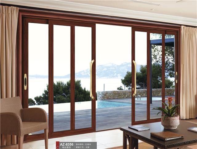 重型折叠门 铝合金折叠门定制 昂尊门窗
