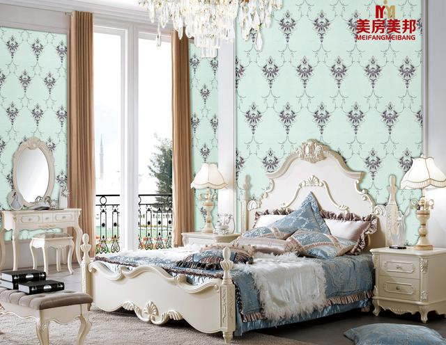 美房美邦最新2004欧式刺绣无缝墙布-领绣刺绣墙布一般