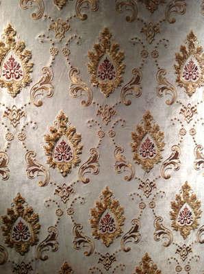 美房美邦较新2004欧式刺绣无缝墙布-领绣刺绣墙布一般