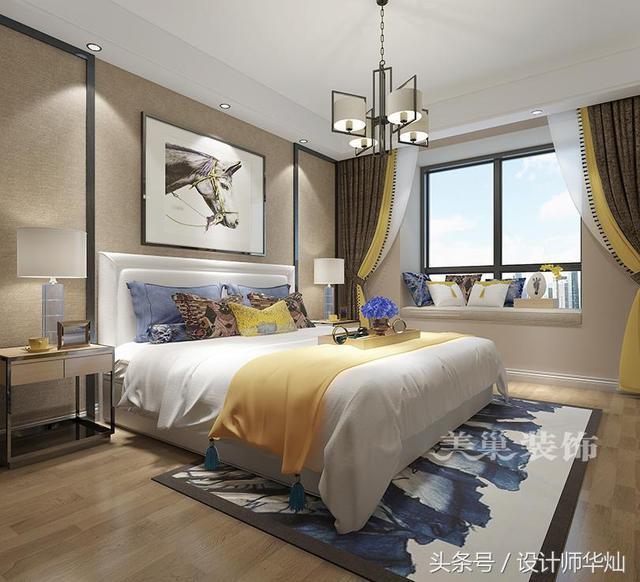 新中式风格:白色混油护墙板,搭配素色壁纸,简洁大方有