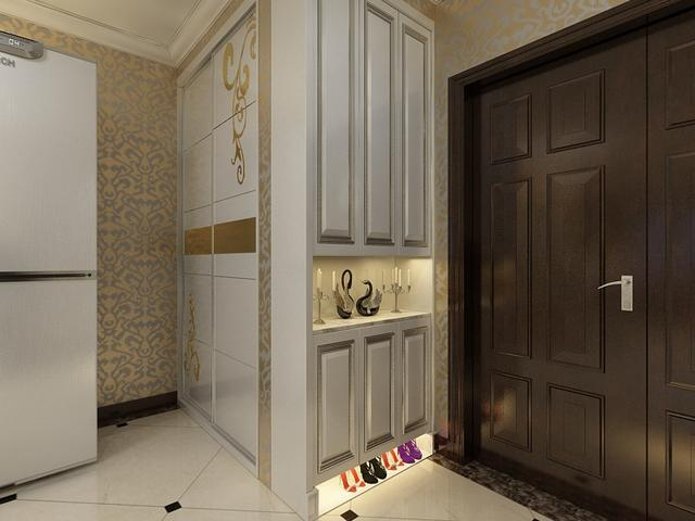 品牌 家装材料 顶墙饰材 墙板 >设计|简欧|欧式造型的护墙板+壁纸,让
