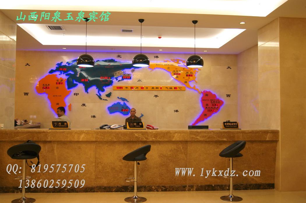 背景墙装饰/背景墙工艺墙贴-新款世界地图钟