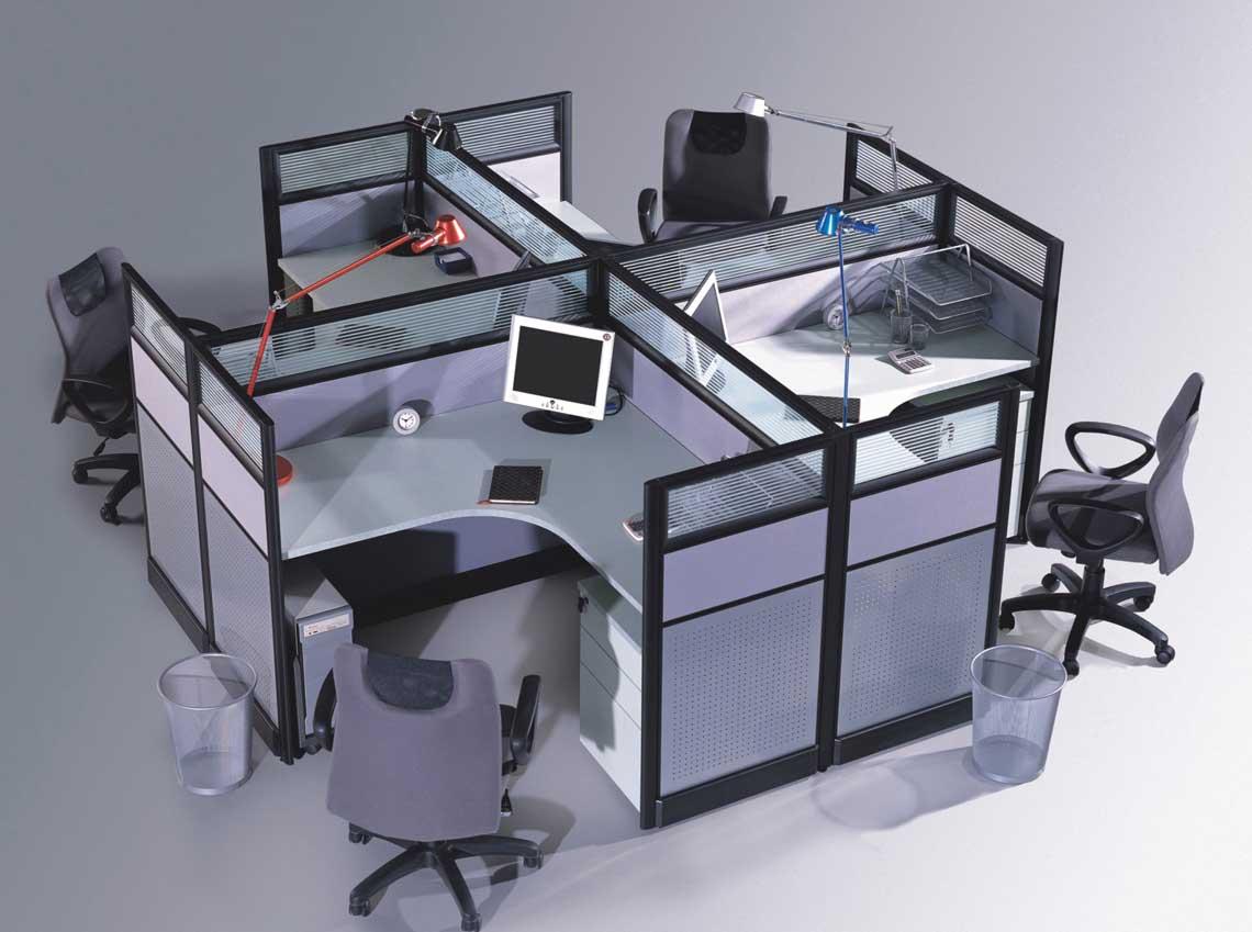 员工位职员位办公隔断办公屏风 效果图,产品 高清图片