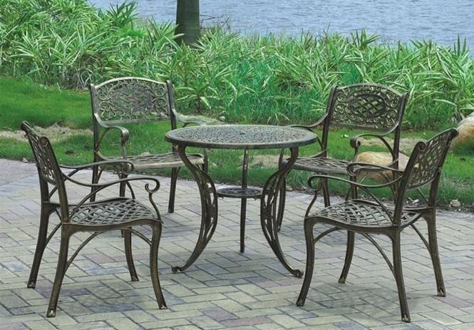 铁艺户外桌椅-【效果图