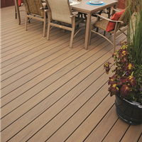 杭州生态木塑木地板WPC环保再生木PVC长城板