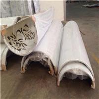弧形镂空包柱铝单板 艺术镂空雕花包柱铝板