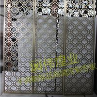 会馆激光不锈钢镂空屏风双面拉丝屏风隔断