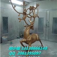 FRP鹿模型雕塑玻璃钢抽象菱形鹿树脂工艺品