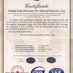 环境体系14001证书